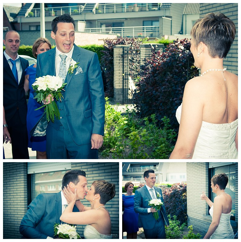Trouwfotos BRam en Christel_0012 eerste reactie van bruidegom