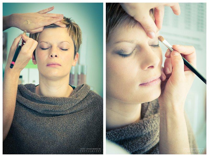 Trouwfotos Bram en Christel_01 bruid bij makeup