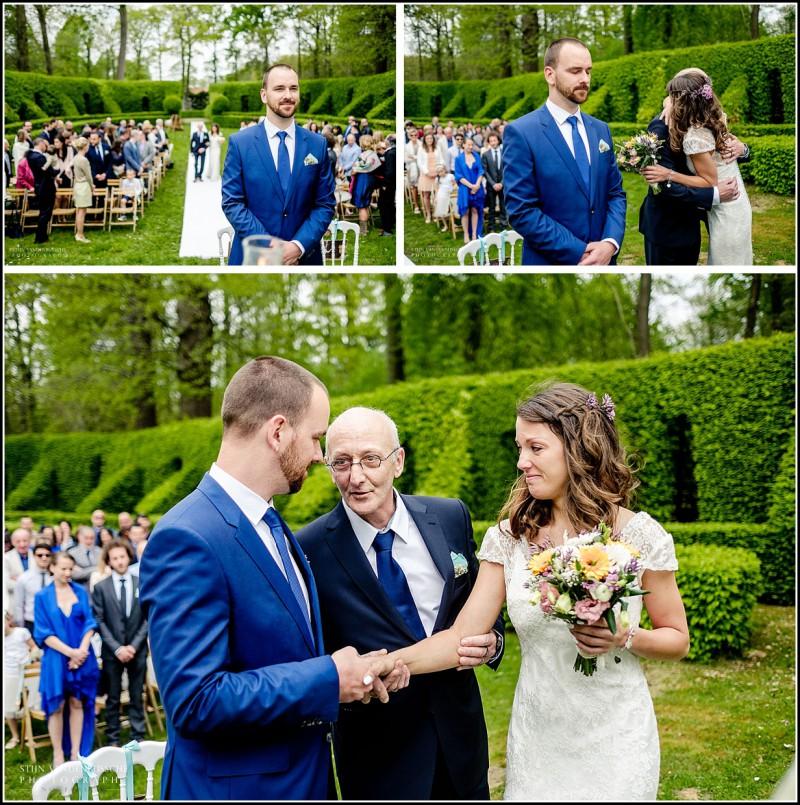 vader geeft bruid weg